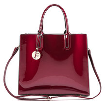 8d24582b7 Patente Sólida brilhante Mulheres de Couro Moda Bolsas Senhoras Bolsas de  Luxo Simples Sacola Ocasional Ombro Messenger Sacos Sa.