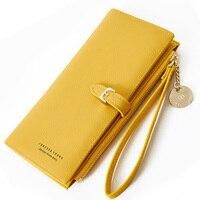 Женский Длинный кошелек, Много отделов, женские кошельки, женское портмоне-клатч, карман на молнии, футляр для карт, Дамский кошелек