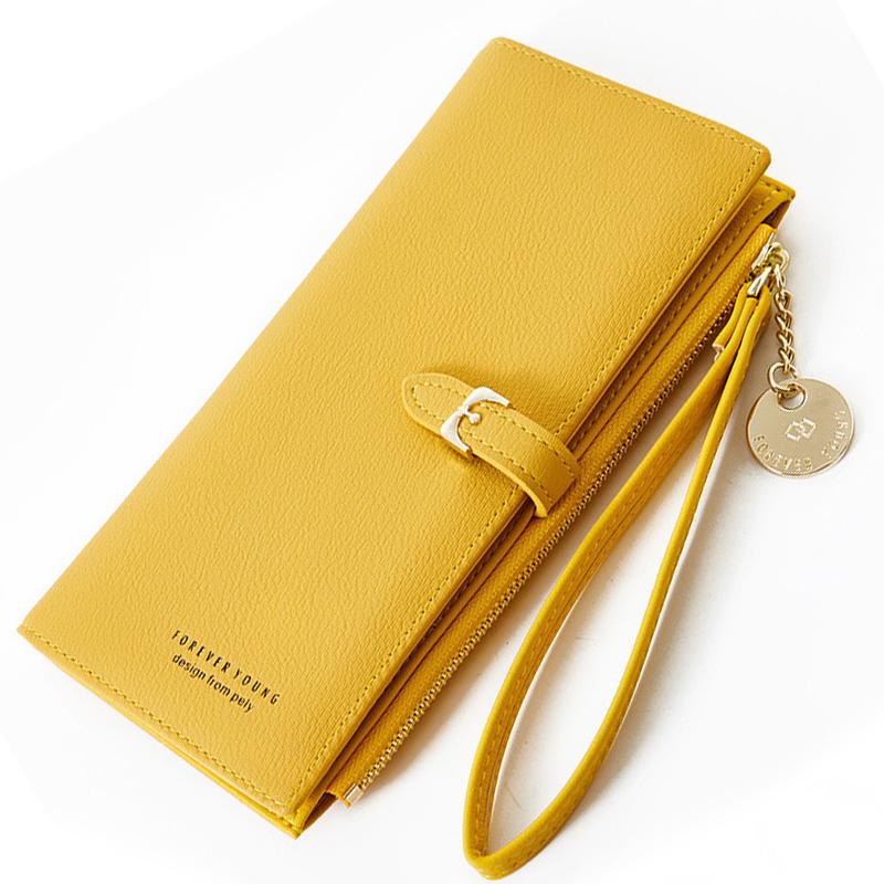 Wristband Women Long Wallet Many Departments Female Wallets Clutch Lady Purse Zipper Phone Pocket Card Holder Ladies Carteras