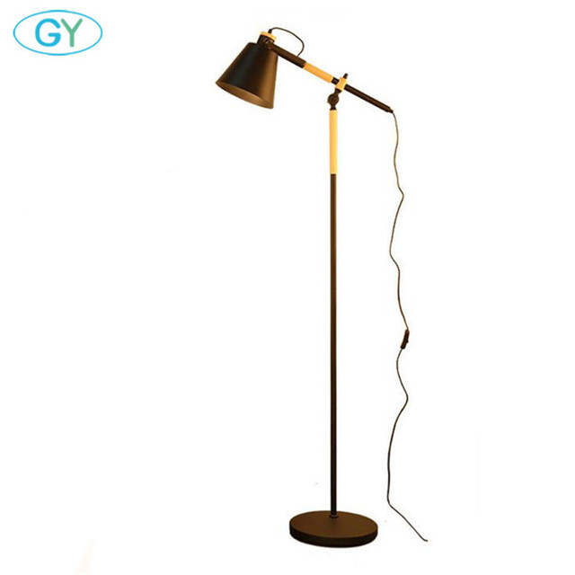 2017 New Modern E27 Floor Lamp White Wood Light Loft Stand Lighting Living Room Bedside