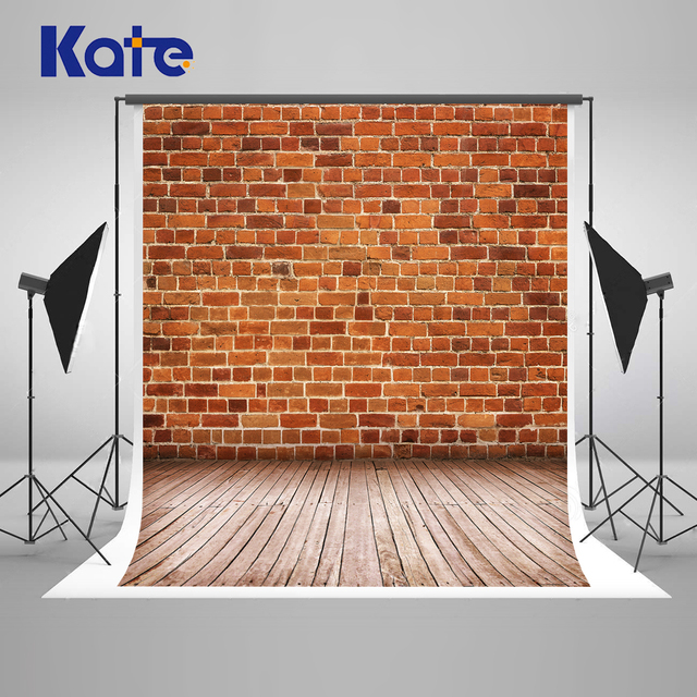 Kate Red Brick Wall Photogarphy Background Washable Children Studio Wood Photographers