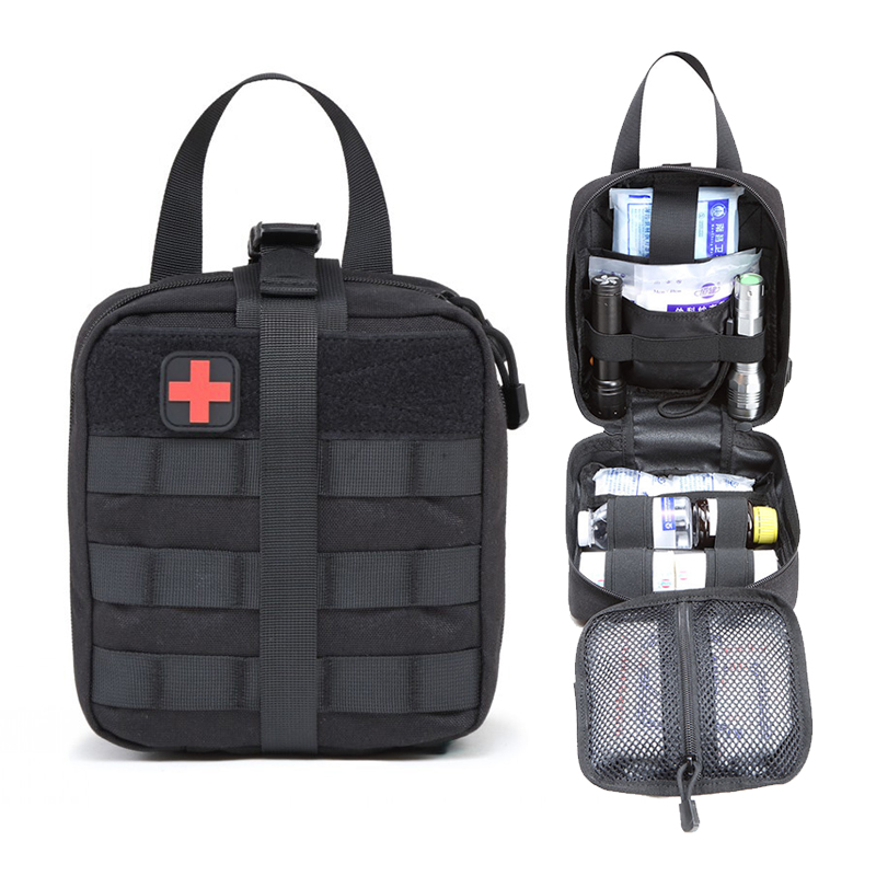 цена на Outdoor Sports Tactical First Aid Bag MOLLE Car Medical Storage Package Hiking Camping Hunting Field Army Military Patch 1000D