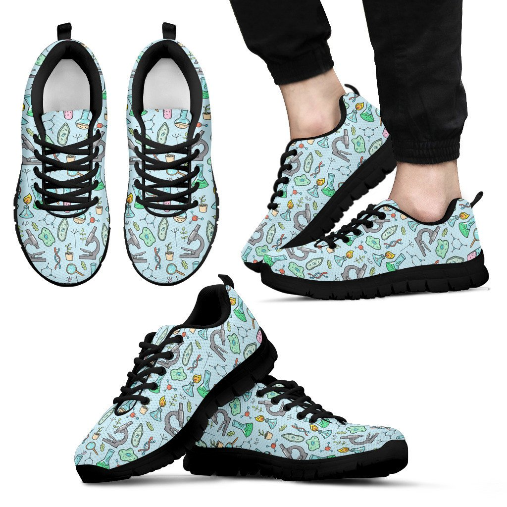 FORUDESIGNS Women Sneakers 2018 Flat Science Equipment Cute Pattern Woman Lace up Black Sneaker INS Street Style Zapatos Mujer