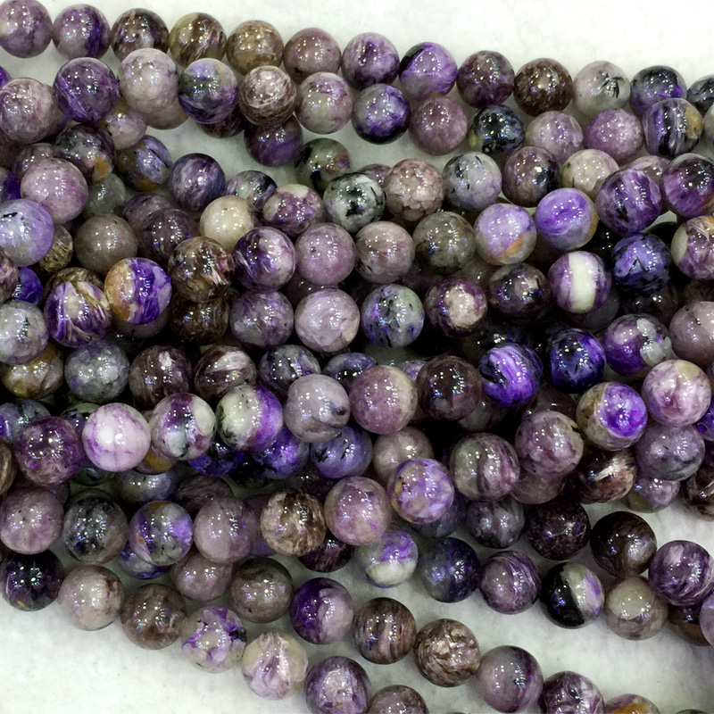 Wholesale Natural Genuine Purple Charoite Round Loose Beads 4-16mm DIY Jewelry Necklaces Or Bracelets 15