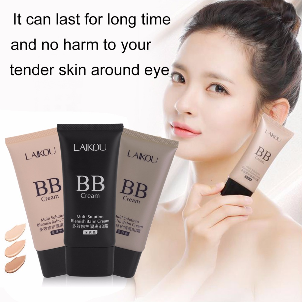 LAIKOU Professional 50G Perfect Cover BB Cream Foundation Concealer Women Lady Facial Whitening Cosmetics Makeup Tool top sale