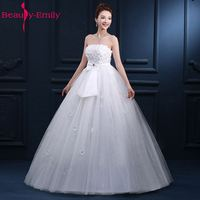 Strapless Hot Sale Real Photos Wedding Dresses Bride Dress Long Floor Length Lace Bridal Gowns For