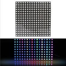 Матрица 16*16/8*8 пикселей 256 пикселей цифровая Гибкая светодиодный панель WS2812B индивидуально Адресуемая 5050 RGB полный цвет мечты DC5V