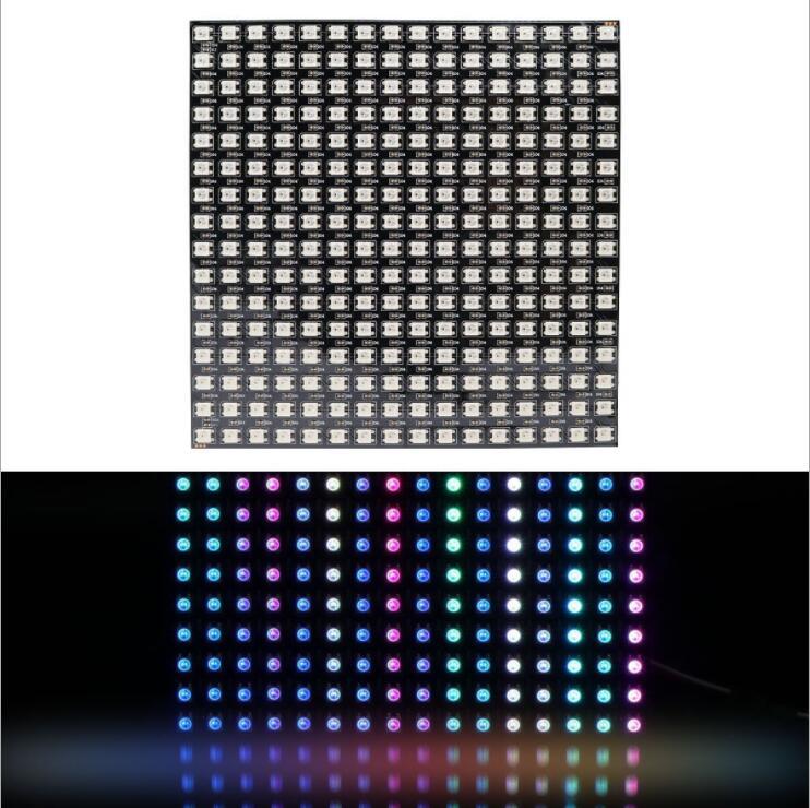 Matrix 16*16/8*8 Pixel 256 Pixels Digital Flexible LED Panel WS2812B Individually Addressable 5050 RGB Full Dream Color DC5V
