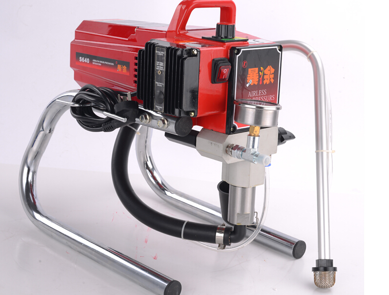 Professional High quality Airless Spray Gun electric Paint Sprayer XKX640 Machine with 50cm extend pole 519/517 Nozzle Tips