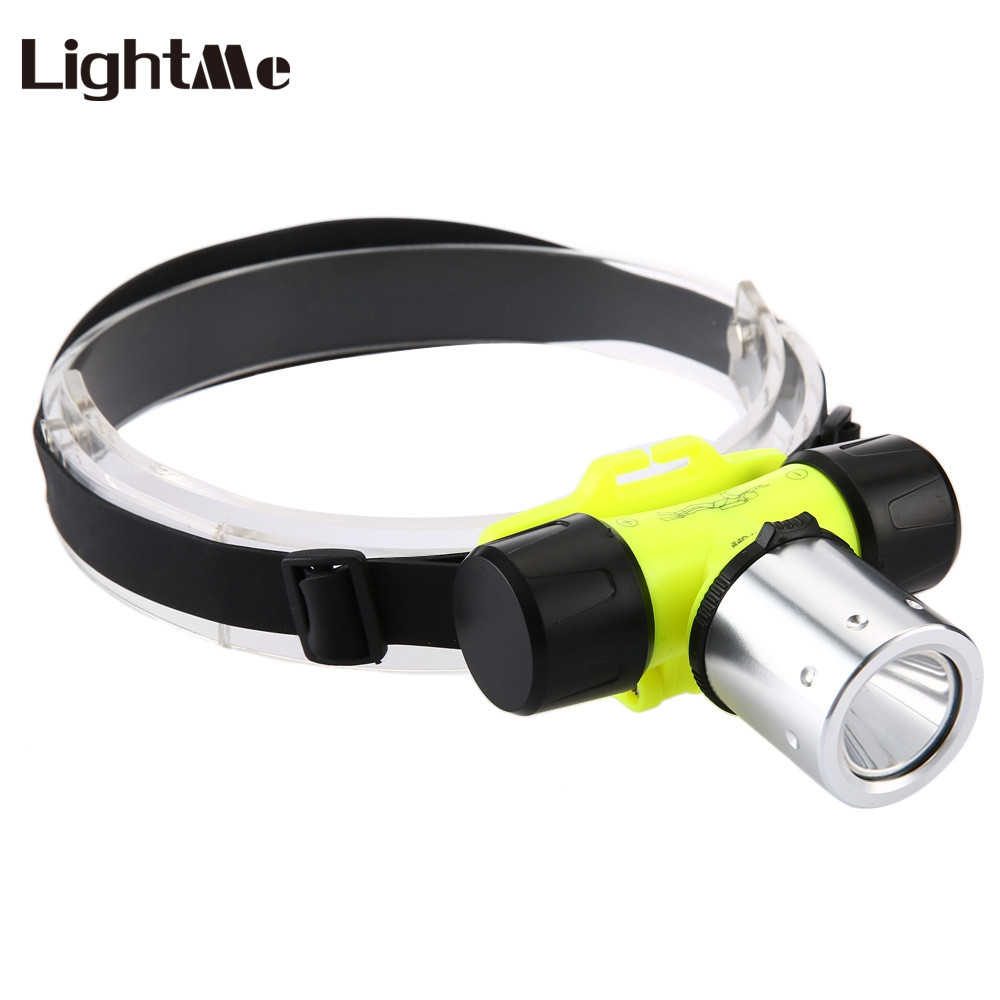 10W 1200LM 3 Modes 18650 Professional LED Headlamp Waterproof Diving Hiking Headlight Underwater Torch 30M Head Light rustu d2tr 1200lm 3 mode white bicycle headlamp grey 4 x 18650