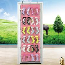 24 Pockets Over Door Hanging Holder Shoe Organizer Storage Rack Wall Closet Bag hanging shoe storage bag