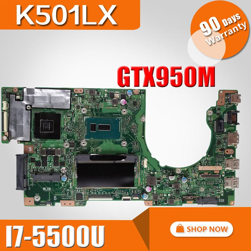 K501LX Motherboard GTX950M I7 5500U For ASUS K501LB A501L K501L K501LN Laptop motherboard K501LX Mainboard K501LX Motherboard-in Motherboards from Computer & Office    1