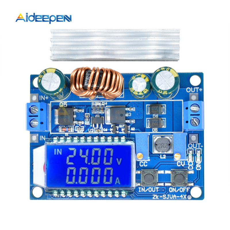 35W 4A DC 5.5-30V To 0.5-30V Digital LCD Display Buck Boost Converter Adjustable Power Supply Module Step Up Down Board Module