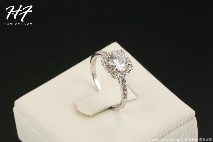 Sliver Color Exquisite Bijoux Fashion Square Wedding & Engagement Ring Made With AAA+ CZ Crystal Jewelry For Women R531 3