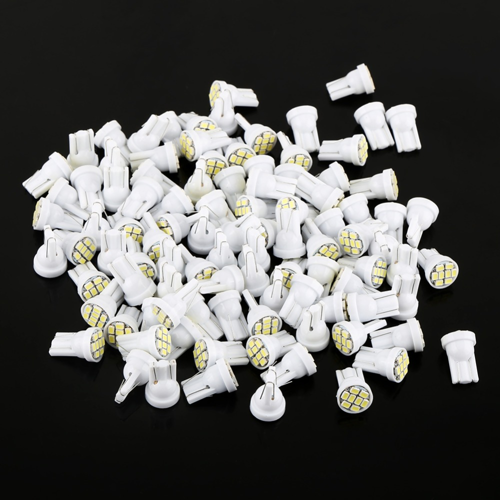 100 Pcs/lot T10 8 SMD 1206 LED Car Interior Light Bulbs Auto Indicator Lamp White LED auto Light Car-Styling wholesale taxi led light auto indicator lamp vehicles car windscreen cab sign white led taxi lamp 12v car styling free shipping