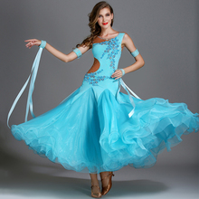 Fashion Women Ballroom Dance Competition Dresses Rhinestone Standard Modern Dance Clothes Ladies Backless Waltz Clothing DC1177