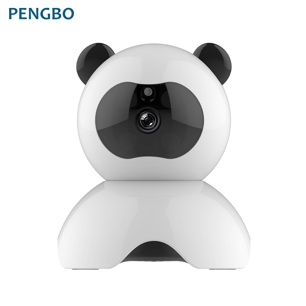 Pengbo Panda PTZ camera Smart 360 degree Rotation Monitor Home HD WiFi Wireless Camera Clear night vision Built-in Speaker