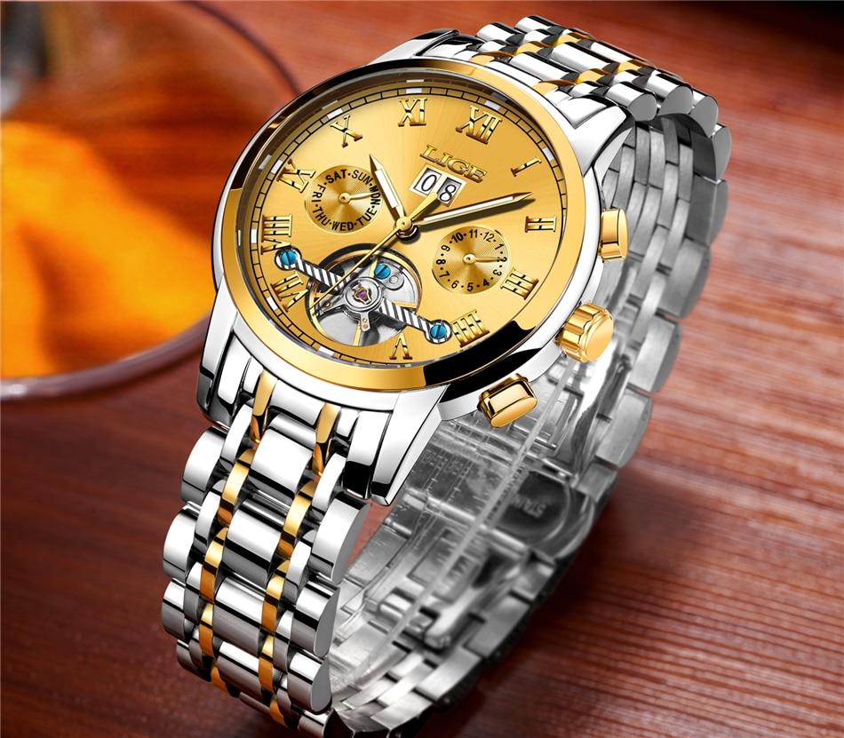 HTB1ktN flsmBKNjSZFsq6yXSVXau LIGE Mens Watches Top Luxury Brand Automatic Mechanical Watch Men Full Steel Business Waterproof Sport Watches Relogio Masculino