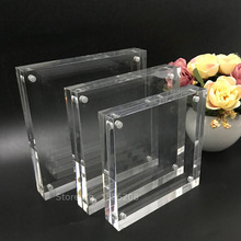 transparent square photo frame blank acrylic ,150x150mm,24mm thickness
