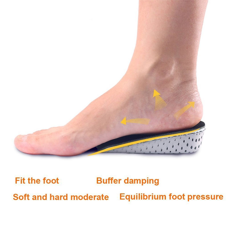 1Pair Breathable Memory Foam Height Increase Insole Invisible Increased Heel Lifting Inserts Lifts Shoe Pads Elevator Insoles