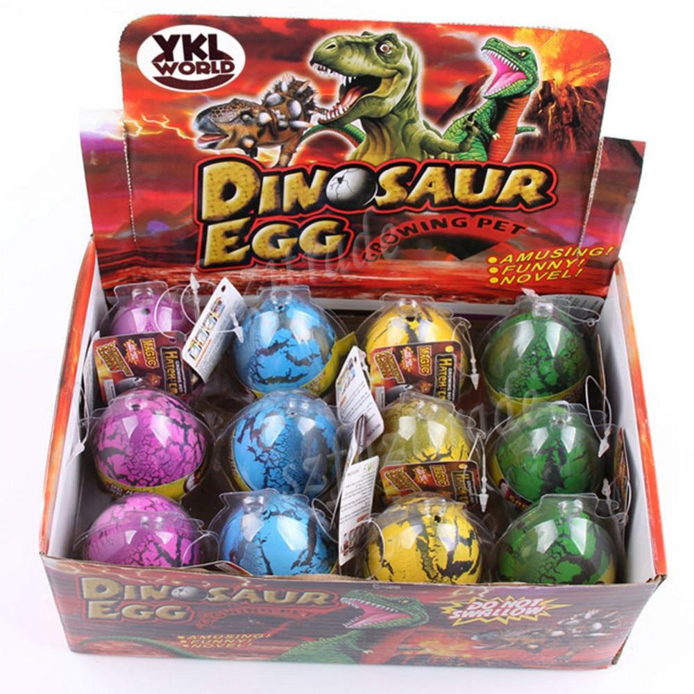 YKLWrold Large Size 12pcs/set Water Hatching Inflation Dinosaur Egg Novelty Toys Cracks Grow Egg Educational Toys For Baby -48