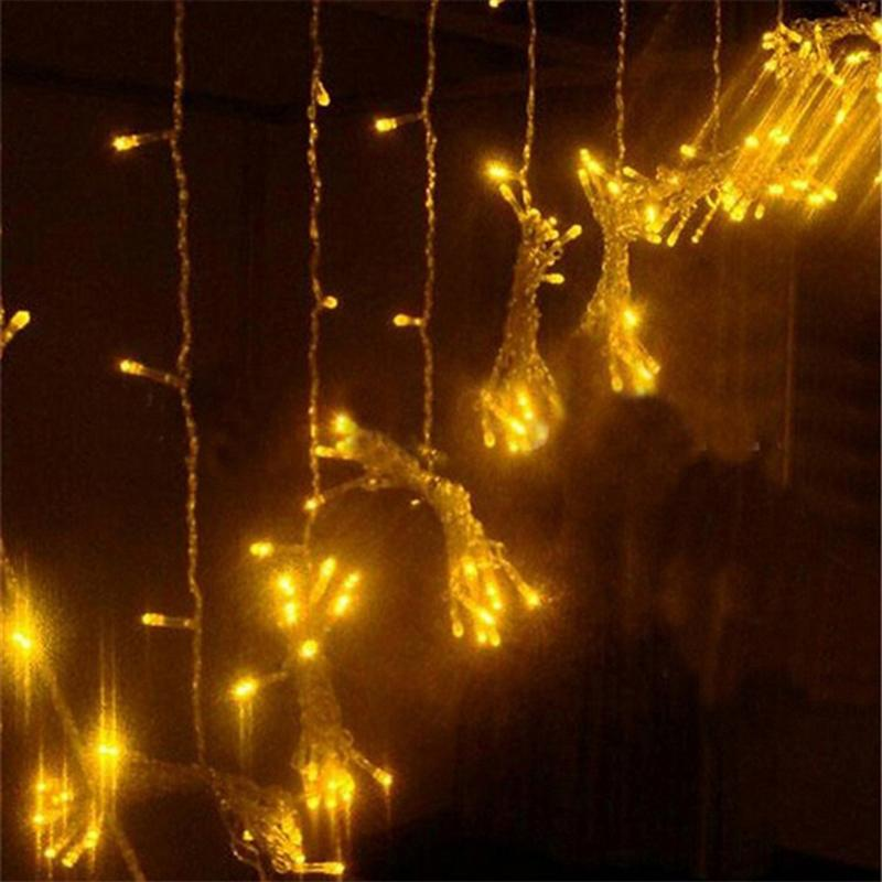 3x3M 300 LED Icicle String Lights Curtain Light for Christmas Home Outdoor Decoration with EU Plug