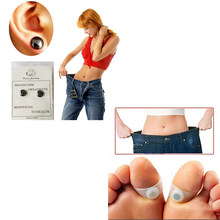 4PCS/set Health Magnetic Slimming Earrings Slimming Patch with Magnetic Silicone Foot Toe Ring Lose Weight Magnets Of Lazy Paste(China)