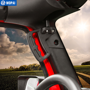 Image 3 - MOPAI Aluminum Car Front Rear Interior Decoration Top Mount Hardtop Grab Handle Bar For Jeep Wrangler 2007 Up Car Styling