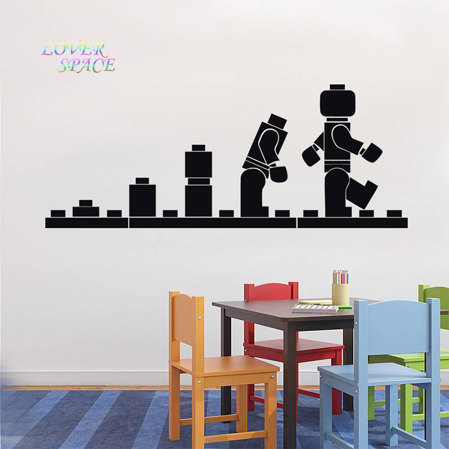 Marvelous Aliexpress.com : Buy LEGO EVOLUTION Decal WALL STICKER Lego Wall Art Vinyl  Stencil Kids Room Cartoon Decorative Stickers Brand Quote DIY Home Decor  From ... Part 25
