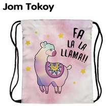 цена на JomTokoy Fashion Women Waterproof Backpack Lovely Alpaca Printing Travel Softback Women Mochila Drawstring backpacks skd29067
