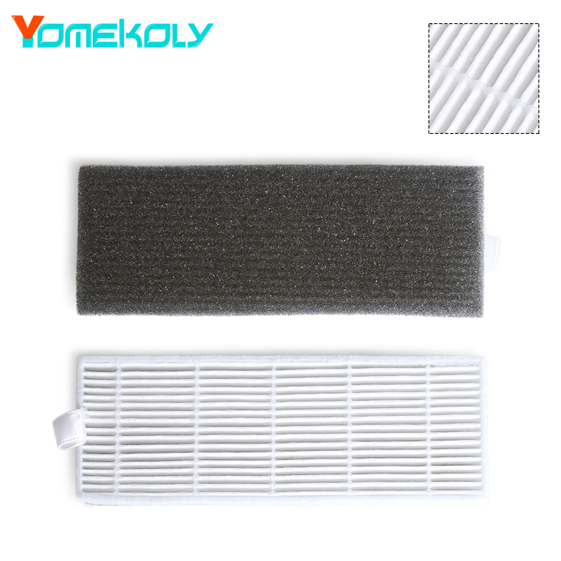 1 Set HEPA Filter Filters Cotton Replacement High-efficiency Vacuum Cleaner Parts Filter for  Ecovacs CEN550 CEN663 CEN661 5x ecovacs hepa filter and 5x fine filtration cotton replacement for d36a tek tcr s tcr s2 tcr660 m1