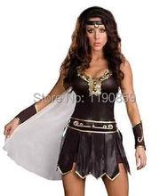 Ladies Xena Gladiator Warrior Princess Roman Spartan Fancy Dress Costume