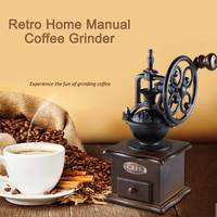 Retro Home Manual Coffee Grinder Hand Grinding Machine Coffee Bean Mill Grinding Ferris Wheel Design Coffee Maker Machine