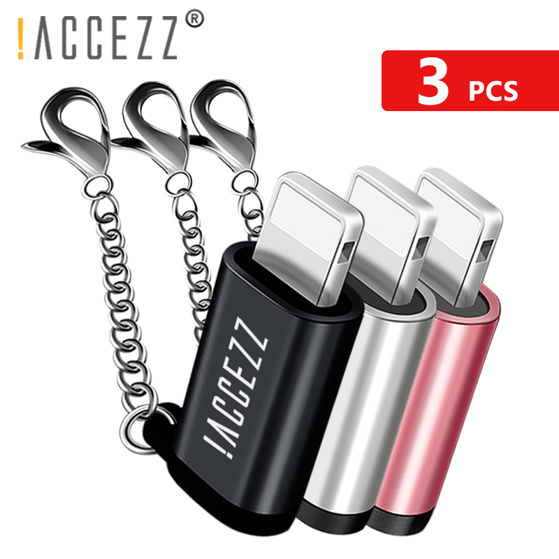 !ACCEZZ Lighting To Micro USB Female Converter For Apple Adapter For <font><b>iphone</b></font> X 7 <font><b>8</b></font> 6S Plus XS MAX XR Data Sync Charger <font><b>Connector</b></font> image