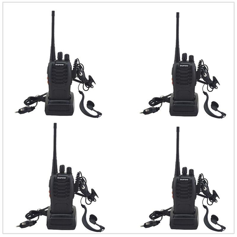 4 pcs/Lot avec Écouteur Radio bidirectionnelle Baofeng Talkie Walkie BF-888S UHF 400-470 MHz 16CH Portable Deux-way Radio avec Écouteur