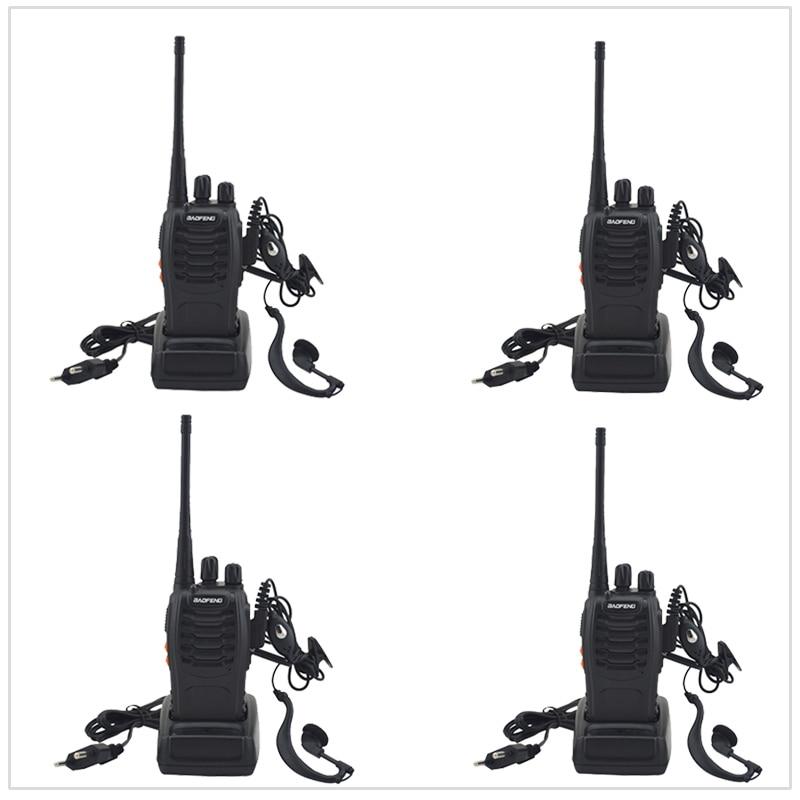 4 pz/lotto con Auricolare Radio bidirezionale Baofeng Walkie Talkie BF-UHF 400-470 MHz 16CH Portable Two-Radio bidirezionale con Auricolare