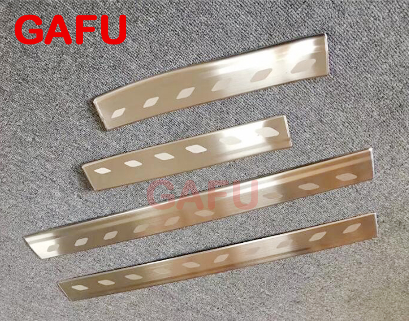 For Toyota YARIS 2017 2018 Door Sill Scuff Plate Guards Door Sills Strip Protector Stickers Car