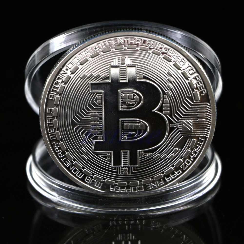 1 Bạc Mạ Bộ Sưu Tập Đĩa Bitcoin Tặng Vật Lý
