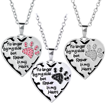 """""""NO LONGER BY MY SIDE BUT FOREVER IN MY HEART"""" PENDANTS NECKLACE"""