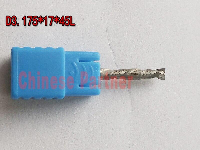 5pcs/lot D3.175x17x45L 1/8 2 Flute HRC55 Up&Down Cut Solid Carbide CNC Router Bit Wood Endmill knife End Milling Cutter Tool 1 2 x 2 1 8 dual flute corner roundover bit router