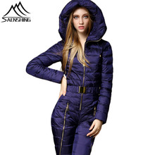 SAENSHING One Piece Mountain Skiing Suit Women Warm Windproof Ski Jacket Snowboarding Suits Breathable Ski Jumpsuit Snow Suits