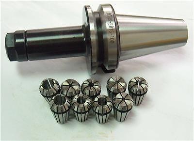 Nuevo portaherramientas BT40 ER16-100L Portabrocas de precisión de 0,003 mm y pinzas de 9 piezas (2 mm-10 mm)