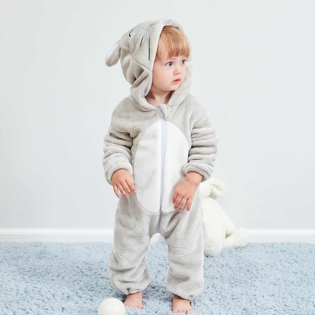 Детский Комбинезон для мальчика, пижамы для девочек, новая зимняя одежда для малышей, кигуруми, детские пижамы с животными, шовный комбинезон, ropa bebe, костюм