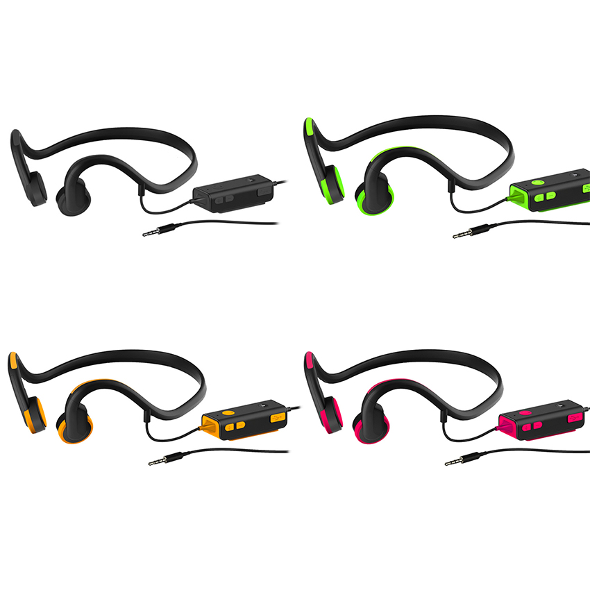 Bone Conduction Headsets Wired Earphone Outdoor Sports Headphones Noise Reduction Hands-free with Mic for Smart Phones Tablet mvpower anti radiation wired telephone headsets portable headphone earphones with mic for all kinds telephone cell phones tablet