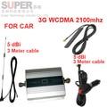 Para el coche de refuerzo 3G 2100 Mhz teléfono móvil amplificador de señal para el coche, pantalla LCD WCDMA 2100 mhz señal repetidor repetidor 3G para el vehículo