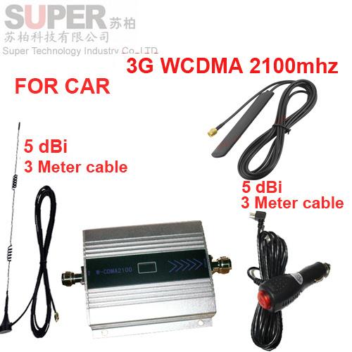 Para o carro do impulsionador 3G 2100 Mhz impulsionador do sinal do telefone móvel para o carro, display LCD WCDMA 2100 mhz sinal repetidor repetidor 3G para o veículo