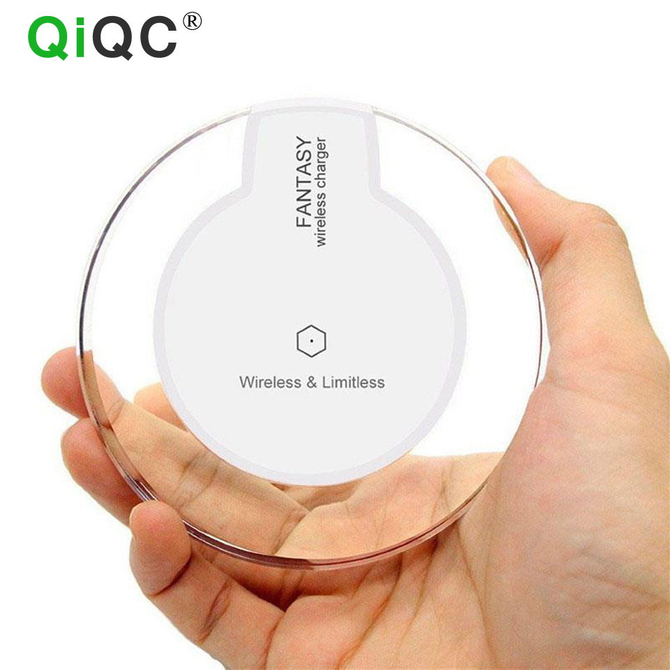 QI Wireless Charger Charging Pad Fantasy High Efficiency Blue Light Crystal For Elephone P9000 Samsung S7/S6 Edge Google Nexus 6