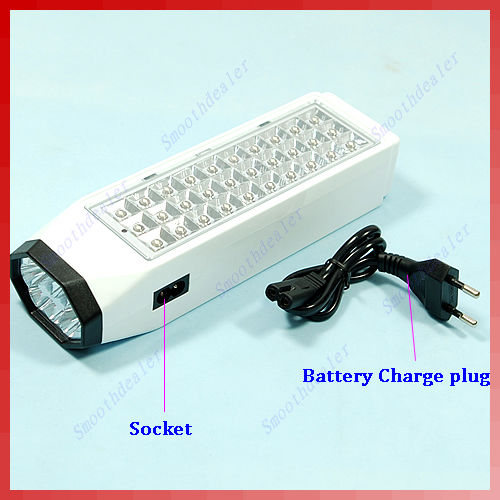 38-LED Rechargeable Emergency Light Lamp High Capacity New