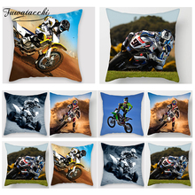 Fuwatacchi Motorcycle Home Decor Pillow Case KTM Ducati MotorGP Cover Living Room Accessories Cushion