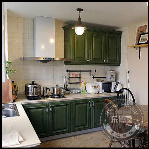 Modular kitchen cabinet solid wood kitchen cabinet customize green